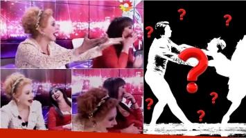 Moria Casán y Nacha Guevara a las carcajadas con el baile clásico de Alberto Samid. Foto: Captura
