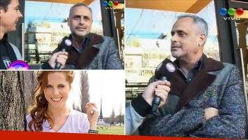 ¡Decilo, Jorge! La tremenda reacción de Rial cuando le preguntaron si había romance con Agustina Kämfer. Foto: captura de TV