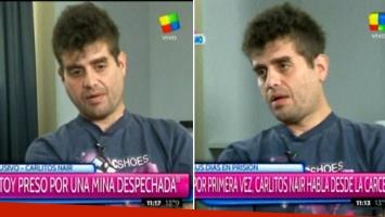 Carlos Nair habló desde la cárcel. Foto: captura.