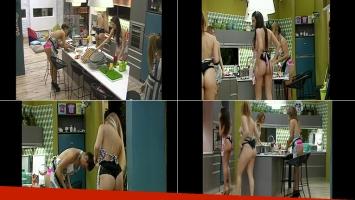 Las chicas de GH cocinaron entangadas. Fotos: Capturas TV.