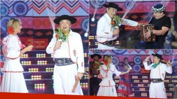Nito Artaza y Silvina Scheffler bailaron chamamé en ShowMatch. Foto: Captura