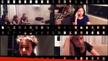 La película de los hijos de Tinelli y Guillermina Valdés. Foto: Captura