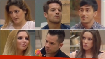 Gran Hermano tiene 6 nominados: Marian, Francisco, Romina, Mariano, Nicolás y Belén. Foto: Captura