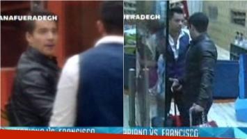 Francisco Delgado tienta a Mariano para que le pegue en Gran Hermano. Foto: Captura