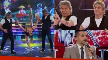 Beto Casella bailó la salsa de tres en ShowMatch con Campi. Foto: Captura / Ideas del Sur