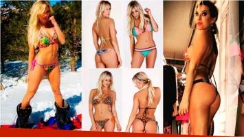 Noelia Marzol posó para su marca de bikinis. Foto: Instagram