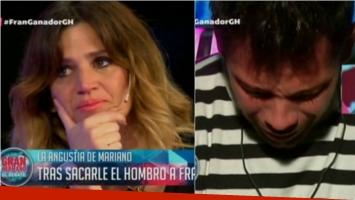 El llanto de María Freytes en El debate de Gran Hermano. Foto: Captura