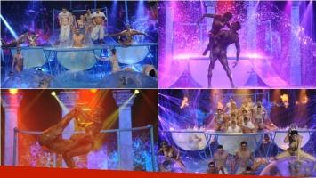 La presentación del aquadance en ShowMatch y el increíble baile de Cinthia Fernández. Foto: Ideas del Sur