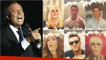 El videoclip de Julio Iglesias con Susana, Axel, Soledad, Nadal y Cristiano Ronaldo. Foto: Web /Captura