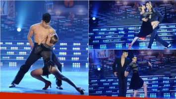 El increíble tango de Cinthia Fernández y Gabo Usandivaras en ShowMatch. Foto: Ideas del Sur