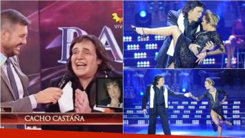 Campi se transformó en Cacho Castaña en ShowMatch. Foto: Captura /Ideas del Sur