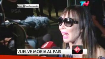 Moria Casán ya está en la Argentina (Foto: Captura)