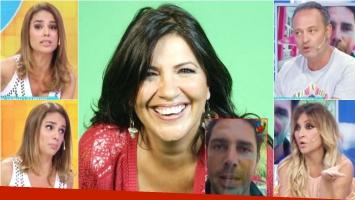 Los panelistas de Intrusos criticaron los picantes dichos de la locutora hacia el estado de salud de Alé (Fotos: Captura y Web)