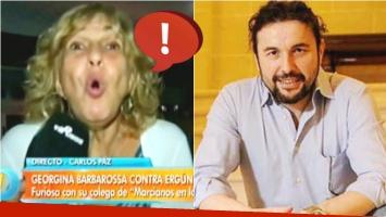 La filosa declaración de Georgina Barbarossa al hablar de su compañero de elenco, Ergün Demir (Fotos: Captura y Web)