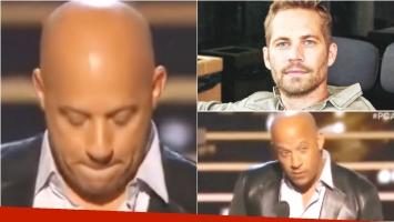 Vin Diesel recordó a Paul Walker al recibir un premio por Rápido y Furioso 7. Foto: Web