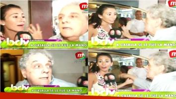 El mal momento que vivió una cronista de BDV con el trato que recibió de Antonio Gasalla (Fotos: Captura)