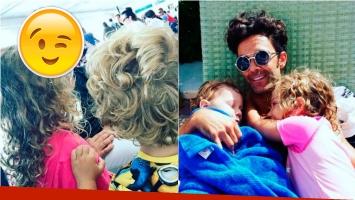 Mariano Martínez, papá feliz en el encuentro de sus hijos con su ídolo. Foto: Instagram