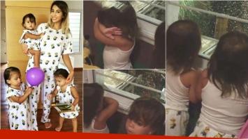 Los divertidos videos de las hijas de Cinthia Fernández mientras miran la lluvia y los truenos (Fotos: Instagram y Captura)