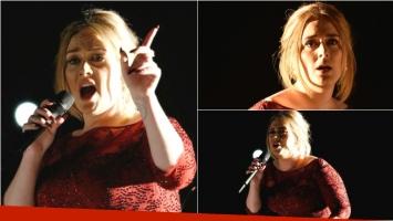 La fallida actuación de Adele en los Premios Grammy 2016. Foto: Web
