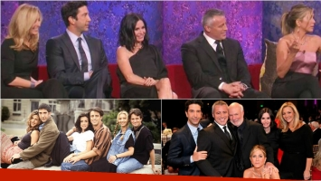 La reunión de los actores de Friends, 12 años después del final. Foto: Web