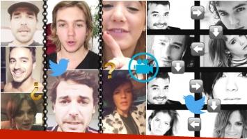 La cadena de preguntas de los famosos (Fotos: Captura y Twitter)