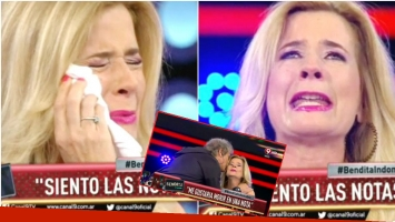 mercedes Ninci se quebró al aire en Bendita TV (Fotos: Captura)