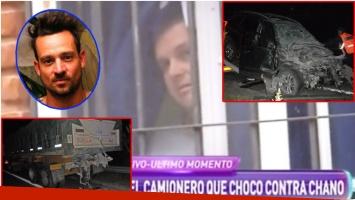 Habló Ezequiel Scortegagna, el camionero que fue chocado por Chano Charpentier (Fotos: Elciudadano.com, Web y Captura)