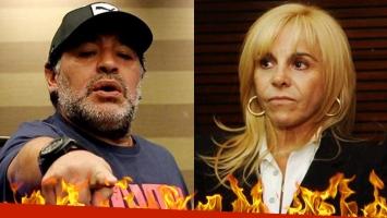 Diego Maradona arremetió contra Claudia Villafañe desde Dubai.