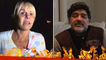 Claudia Villafañe contó por primera vez el motivo de la furia de Maradona.