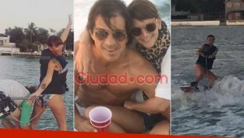 Amalia Granata y su primera foto junto a su nuevo novio, Leonardo Squarzon, exmarido de Soledad Solaro. Fotos: Ciudad.com, Twitter e Instagram