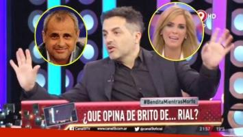 Ángel De Brito opinó sobre Viviana Canosa y Jorge Rial (Fotos: Web y Captura)