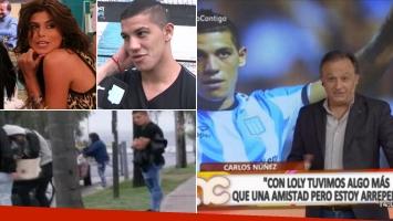 Carlos Núñez contó que tuvo una relación con Loly Antoniale y ella respondió furiosa.