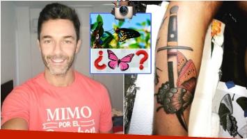 Mariano Martínez se volvió a tatuar en la pierna derecha (Fotos: Instagram)
