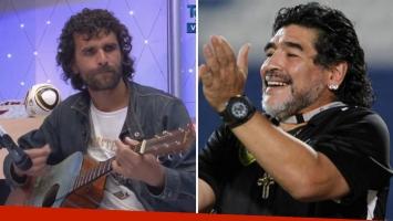La conmovedora canción que Héctor Bracamonte le dedicó a Diego Maradona