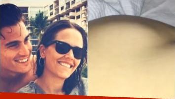 El tierno video del embarazo de Ivana Figueiras (Fotos: Web y Captura)