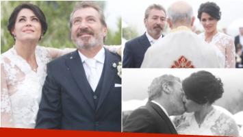 El video del casamiento de Pamela David y Daniel Vila (Fotos: Diario Uno y Captura)