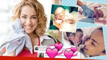 La primera noche de María Julia Olivan con su hijo (Foto: Web y Twitter)