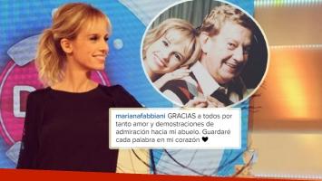 Mariana Fabbiani agradeció el cariño recibido tras la muerte de Mariano Mores (Foto: Instagram)