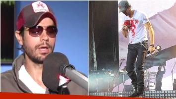 La fuerte confesión de Enrique Iglesias tras su accidente en el escenario con un drone (Fotos: Web e Instagram)