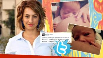 María Julia Olivan, indignada con Twitter (Foto: Web y Twitter)