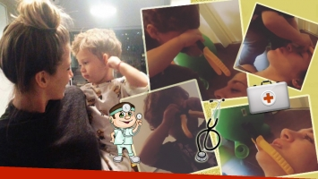 Los divertidos videos de Jimena Barón jugando con su hijo al doctor (Foto: Instagram)