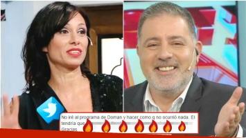 La reacción de Érica García tras ser invitada por Doman a un mano a mano en su nuevo programa (Fotos: Web)