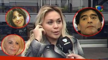 Verónica Ojeda confirmó su acercamiento con Gianinna Maradona