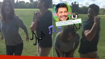 Luciano Castro y Araceli González probándose para el Bailando (Foto: Instagram)