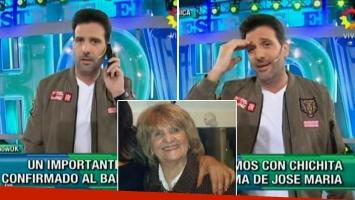 El blooper de José María Listorti con el llamado a su madre en vivo.