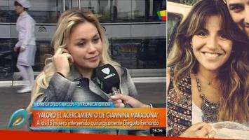 Verónica Ojeda reconoció el gesto de Gianinna Maradona