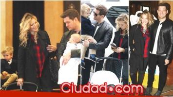 Luisana Lopilato y Michael Bublé llevaron a sus hijos al Colón (Fotos: Movilpress)