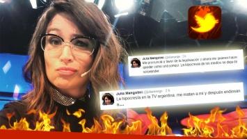Los rabiosos tweets de Mengolini, tras las críticas por su declaración sobre las drogas.