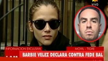 Barbie Vélez amplió y ratificó su denuncia contra Federico Bal (Foto: Web)