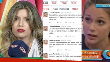 Laurita Fernández y su reacción tras la acusación de infidelidad de Barbie Vélez.
